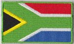 South Africa Embroidered Flag Patch, style 04.